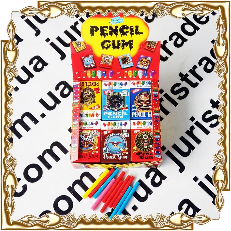 Жувальна гумка Олівець Pencil Gum (10 шт.) 18 шт/уп.