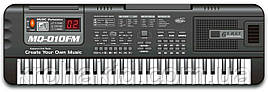 Детский синтезатор / пианино / орган MQ 010 FM - FM радио + микрофон - от сети - 61 клавиша