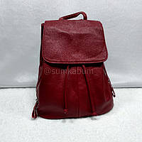 Модный и вместительный городской рюкзак в насыщенном красном цвете, фото 1