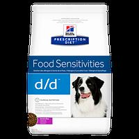 Hill's Prescription Diet Canine D/D для лечения кожного зуда любой этиологии у собак, с уткой и рисом, 12 кг