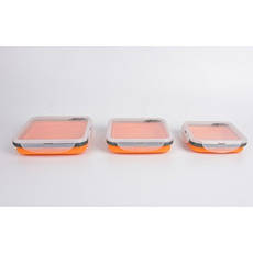 Набір з 3х силіконових контейнерів Tramp (400/700 / 1000ml) orange, фото 2