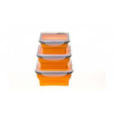 Набір з 3х силіконових контейнерів Tramp (400/700 / 1000ml) orange, фото 3