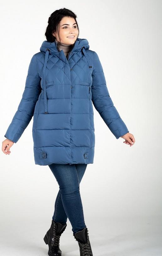 Легкая зимняя куртка Линда джинс (48-58)
