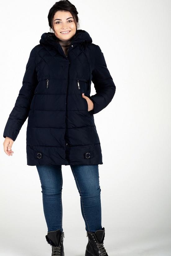 Легкая зимняя куртка Линда синий (48-58)