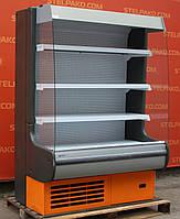 Холодильная горка (Регал) «Росс Modena ВХТ» 1.3 м. (Украина), прозрачные боковые стекла, Б/у, фото 1