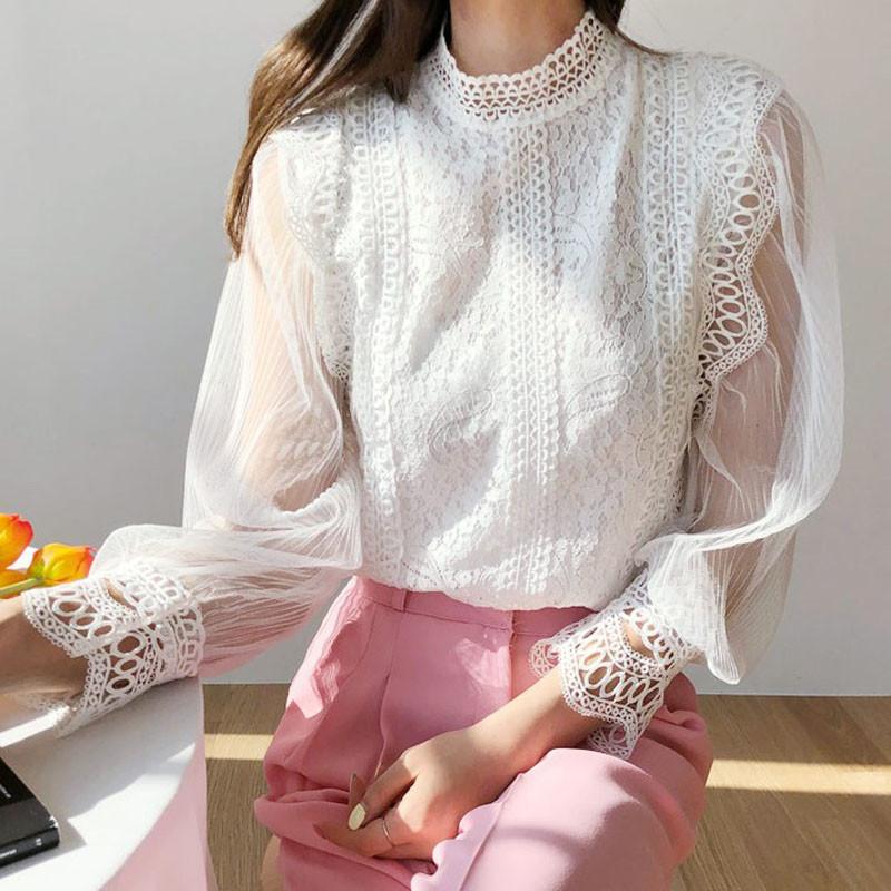 Вечерняя блузка из кружевного гипюра 42-44 (в расцветках)