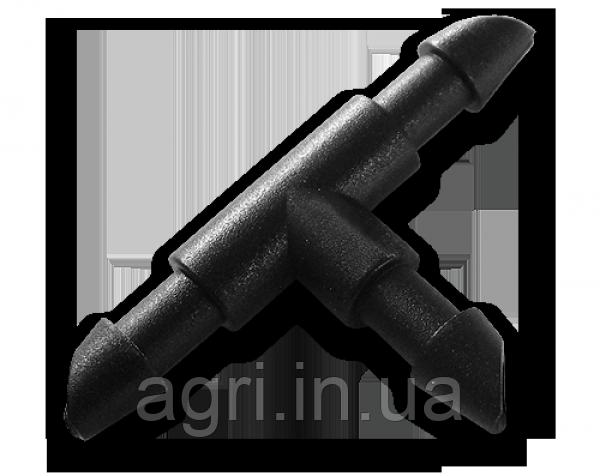 Соединитель-тройник для трубки 4мм