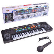 Детский синтезатор / пианино / орган MQ-803 с микрофоном, 37 клавиш, mp3, usb, микрофон, от сети