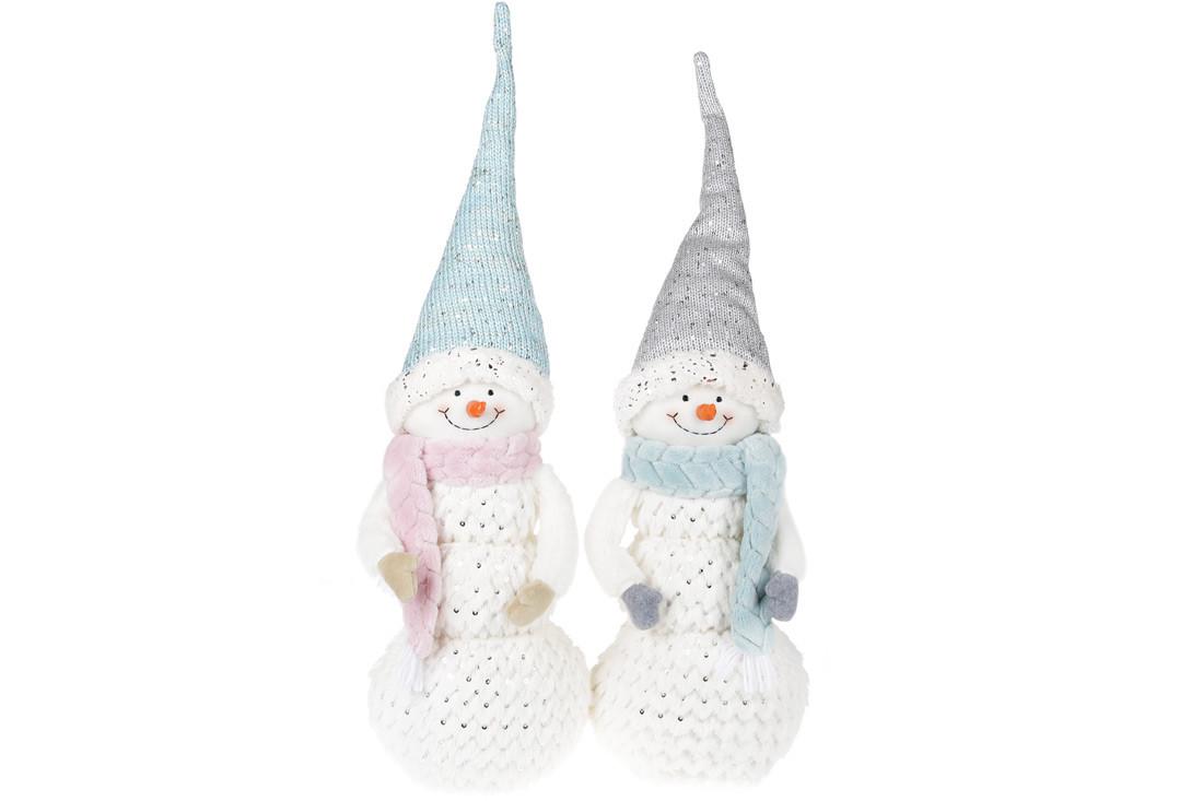 Мягкая новогодняя игрушка Снеговик 67см, 2 вида,  в упаковке 2шт. (822-285)