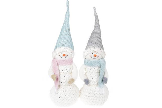 Мягкая новогодняя игрушка Снеговик 67см, 2 вида,  в упаковке 2шт. (822-285), фото 2