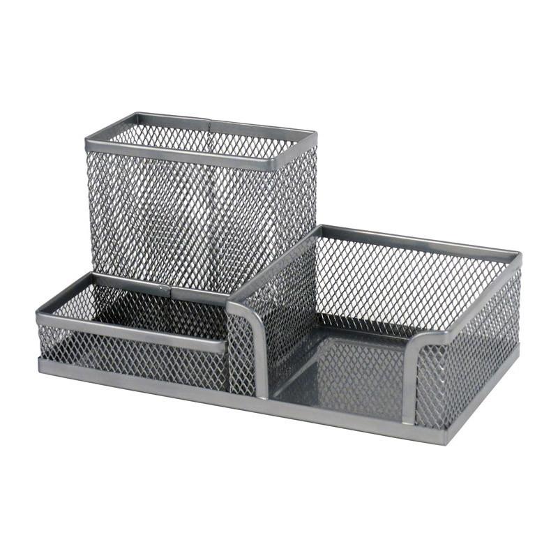 Подставка-органайзер 203х105х100 мм металлическая, серебристая
