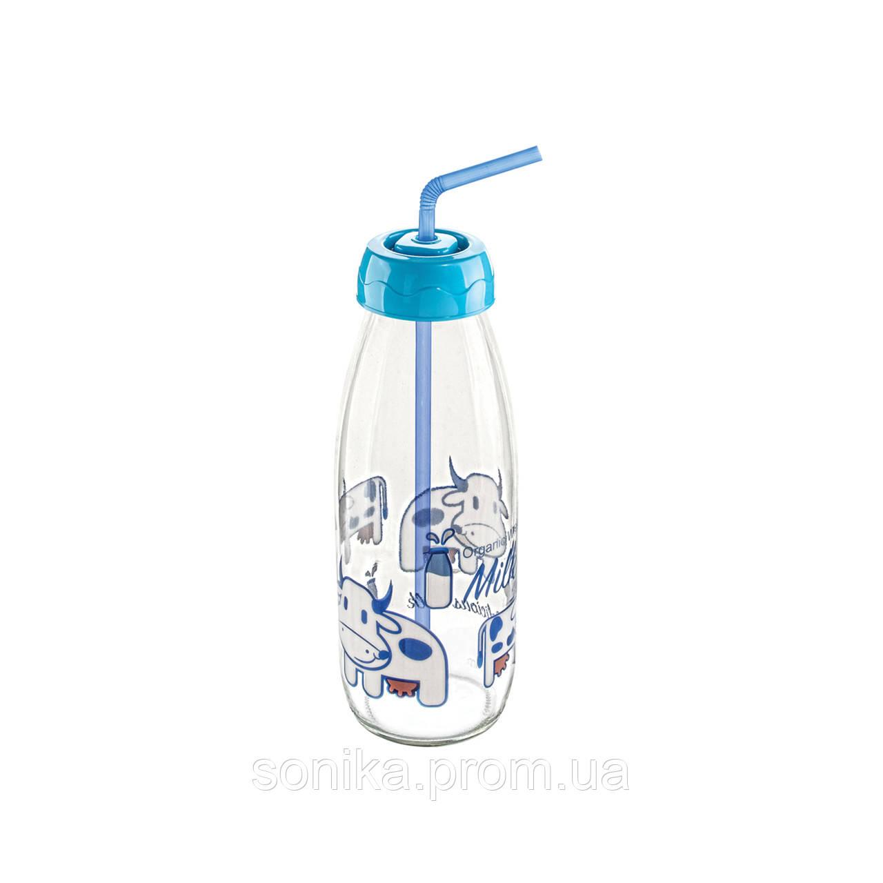 Дитяча пляшка  для напоїв з трубочкою Sarina 500мл.S-765