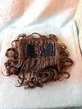Шиньон-накладка на гребешках удлиненная светло-каштановая 902А-31, фото 7