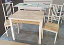 Стол обеденный Марсель 90(+35+35)*70  белый - Нордик Пайн, фото 5