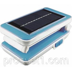 Настольная светодиодная лампа Lemanso LMB21 синий+солнечная батарея