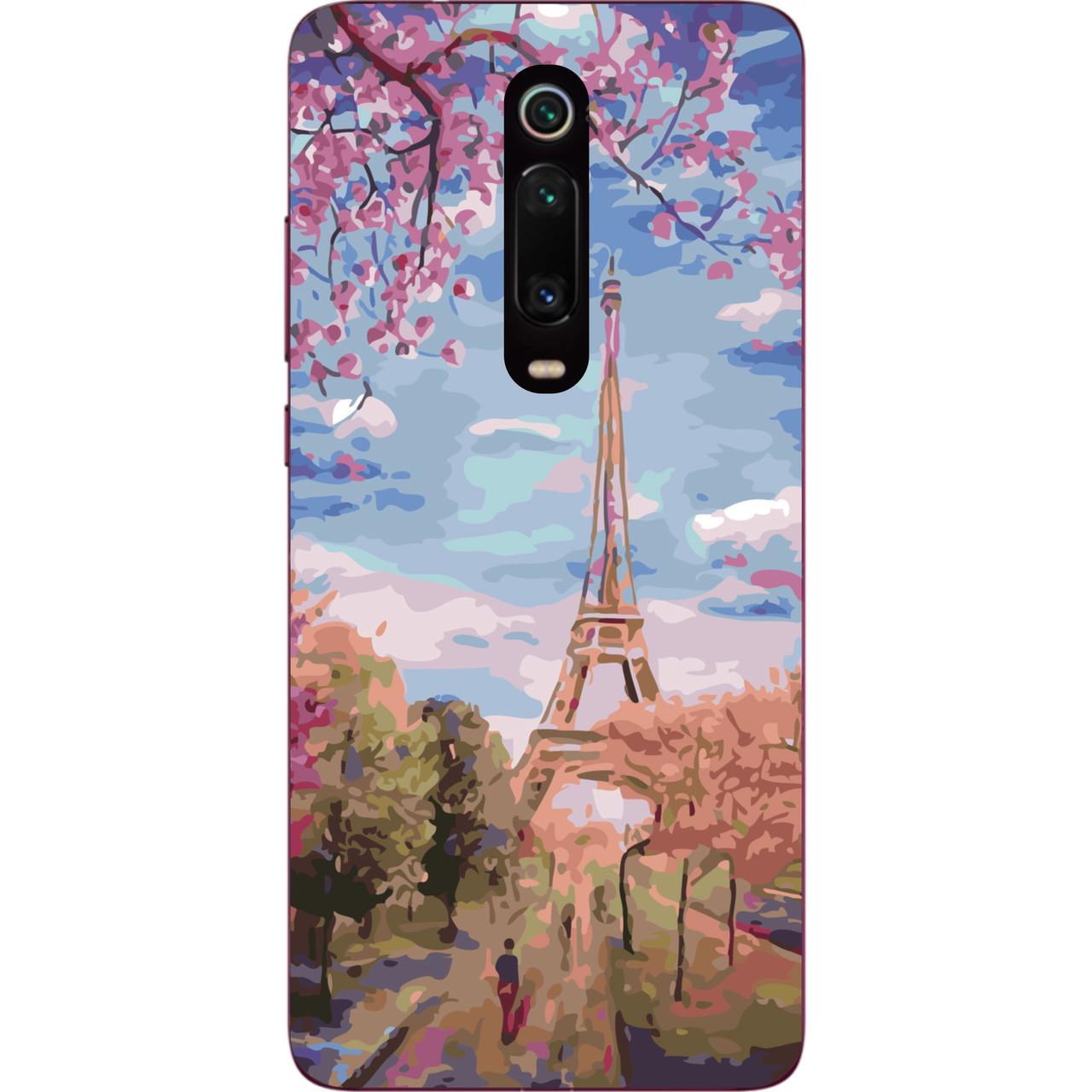 Бампер силиконовый чехол для Xiaomi Mi 9t / K20 / Mi 9t Pro / K20 Pro с картинкой Париж