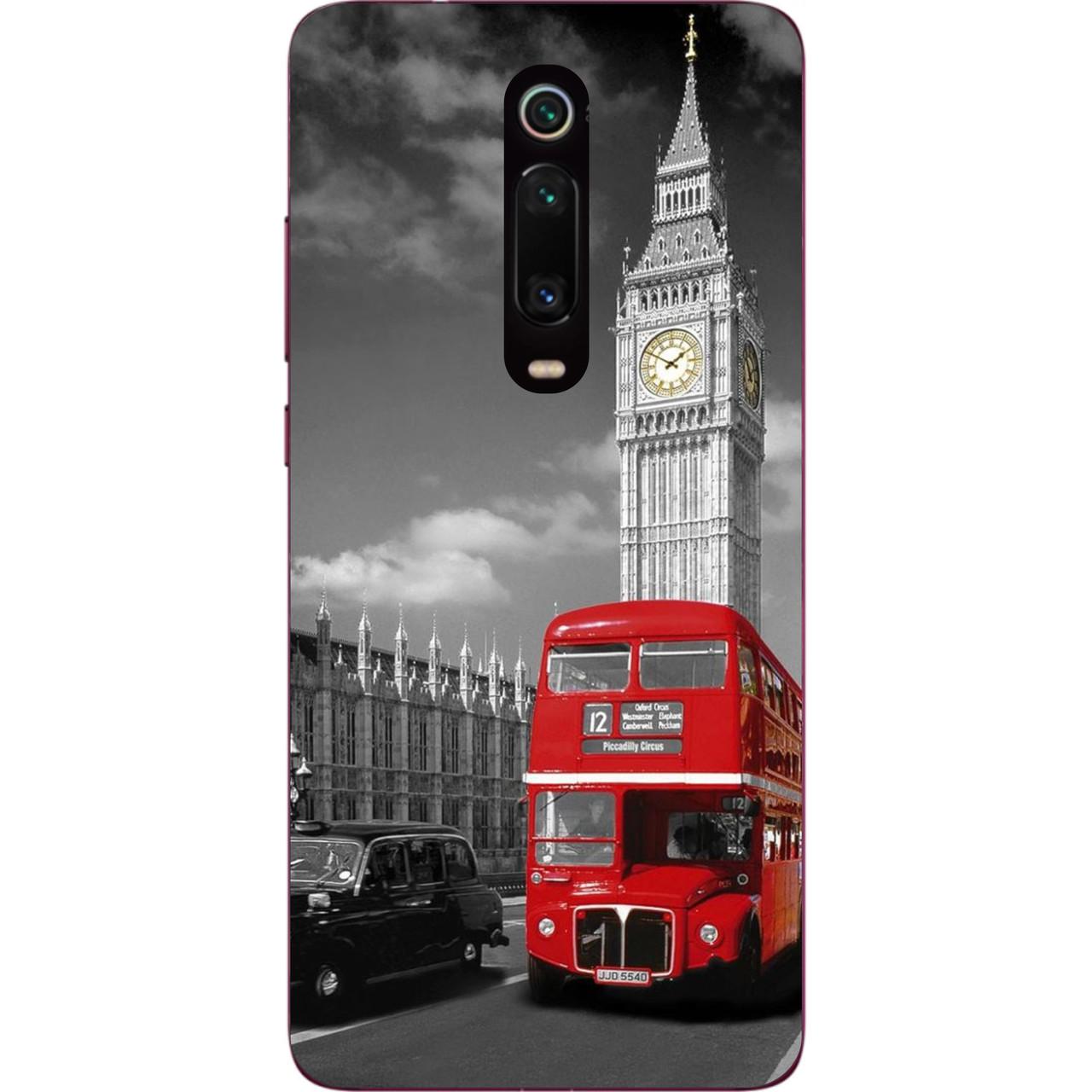 Бампер силіконовий чохол для Xiaomi Mi 9t / K20 / Mi 9t Pro / K20 Pro з картинкою Лондон