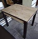 Стол обеденный Марсель 90(+35+35)*70  белый - Нордик Пайн, фото 9