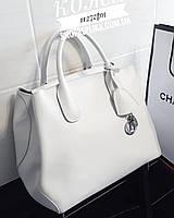 Большая женская Кожаная сумка диор Белая , розовая  , пудровая коллекция женских кожаных сумок , кожа, фото 1