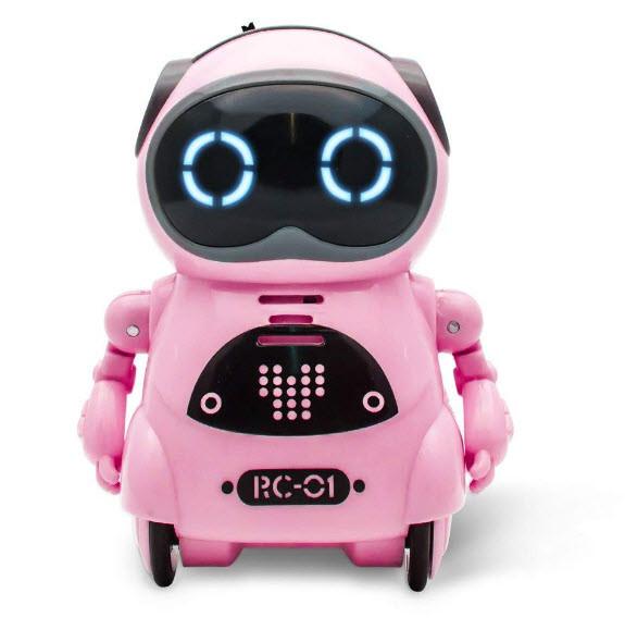 Робот Jiabaile интерактивная игрушка Pocket Robot, english, розовый
