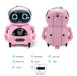 Робот Jiabaile интерактивная игрушка Pocket Robot, english, розовый, фото 4