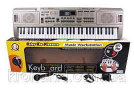 Детский синтезатор / пианино / орган MQ 816 - USB, 61 клавиша, с микрофоном, работает от батареек