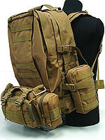 Рюкзак Тактический 65+5л с системой MOLE и быстрого сброса