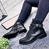 Ботинки женские Glo черные эко - кожа )), фото 8