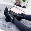 Ботинки женские Glo черные эко - кожа )), фото 9