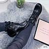 Ботинки женские Glo черные эко - кожа )), фото 10