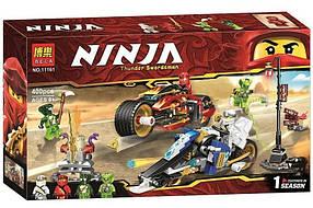 Конструктор Bela 11161 Мотоцикл Кая и снегомобиль Зейна. Ниндзяго (Аналог Lego Ninjago 70667)