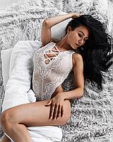 Женское эротическое белье белого цвета бодиком