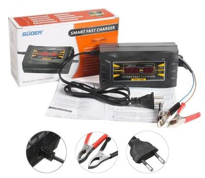 SUOER Авто Зарядное устройство для аккумулятора полный автомат 12V 6A Оригинал