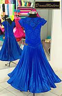 Платье для бальных танцев (бейсик) Cobalt - sat-chif «Chrisanne» и «DSI» (Великобритания)