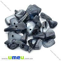 Скол натуральный камень Перламутр серый, 8-17 мм, 20 г (BUS-012612)