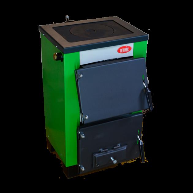 Котел твердопаливний Вогник Котв - 10 п кВт з варильною плитою