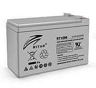 Аккумуляторная батарея AGM RITAR RT1290 Gray Case 12V 9.0Ah