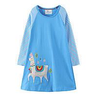 Платье для девочки Лама Jumping Meters