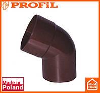 Водосточная пластиковая система PROFIL 130/100(ПРОФИЛ ВОДОСТОК).Произвольное колено от 70º до170º, коричневый