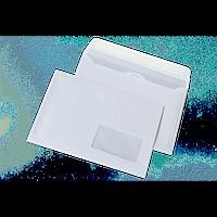 Конверт DL 110 х 220 мм самоклеющийся белый с окном 45 х 90 мм