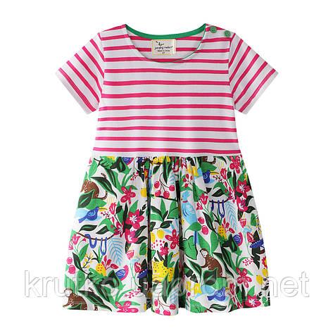 Платье для девочки Цветущие джунгли Jumping Meters, фото 2
