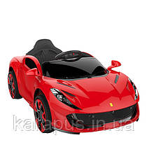 Эл-мобиль T-7641 EVA RED легковая на Bluetooth 2.4G Р/У 12V4.5AH мотор 2*25W с MP3 122*70.3*50 /1/