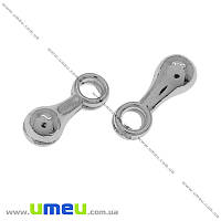 Концевик, 7х2,5 мм, Темное серебро, 1 шт (ZAG-012419)