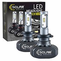 Автолампа Solar LED H7 12/24V 6000K 4000Lm 50W Seoul CSP 19x19 (комплект 2шт)