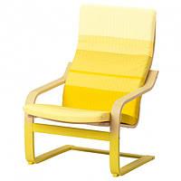 Кресло(крісло) IKEA (ИКЕА) POÄNG Lyskraft желтое (692.610.85)