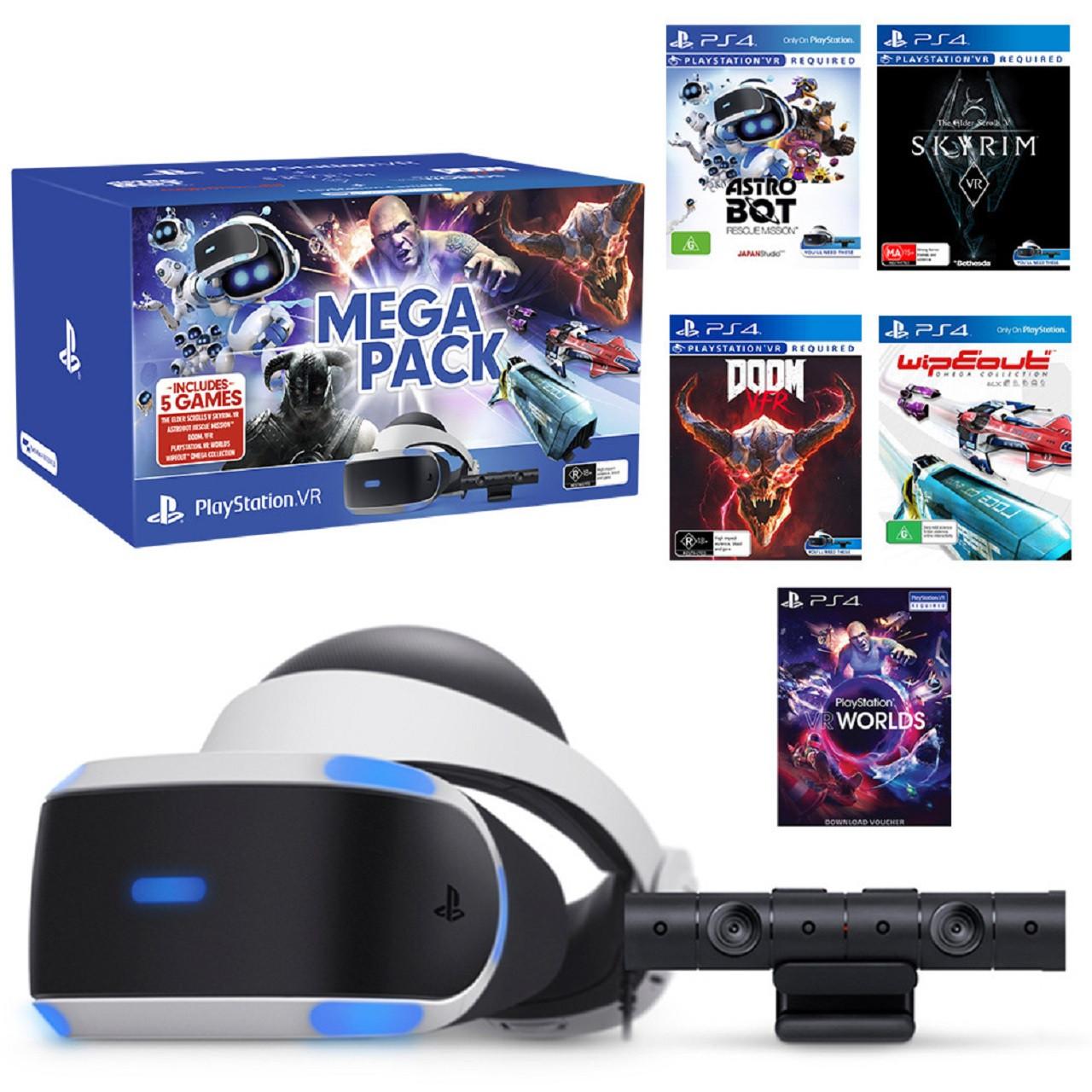 Sony PS4 VR MegaPack (окуляри,камера V2 , 5 ігор)