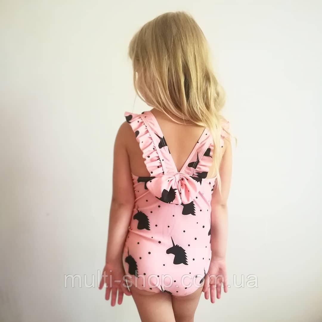 Купальник для девочки с единорогами