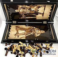 Нарды, шахматы, шашки ручной работы РЫЦАРИ (70х60 см.)