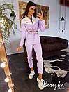 Женский костюм с укороченным бомбером и брюками джоггерами 66ks1408Е, фото 2