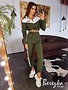 Женский костюм с укороченным бомбером и брюками джоггерами 66ks1408Е, фото 3